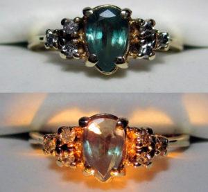 кольцо с натуральным александритом