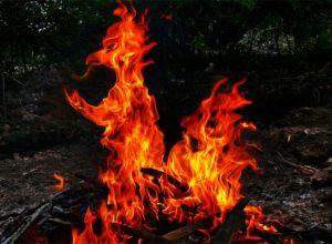 огонь красный