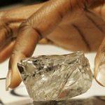 коричневый алмаз необработанный