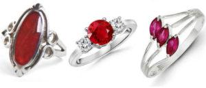 перстень с красным камнем