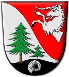 герб с аммонитами немецкой деревни