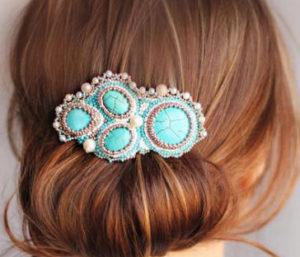 заколка для волос с камнями