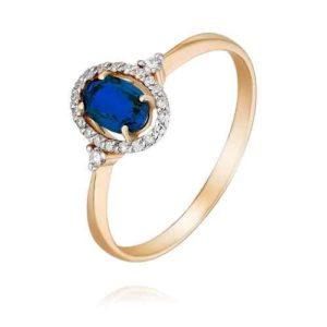 кольцо с гт сапфиром