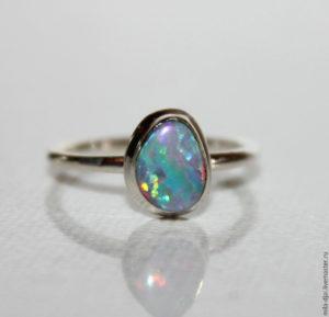 кольцо с опалом фото