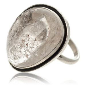 кольцо с кварцем волосатиком