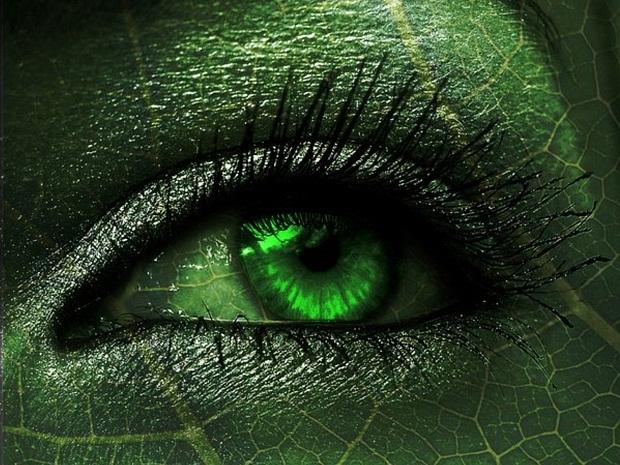 зеленый глаз человека