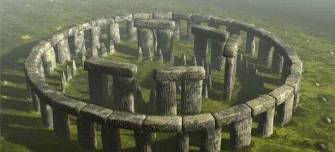 древнее сооружение из камней