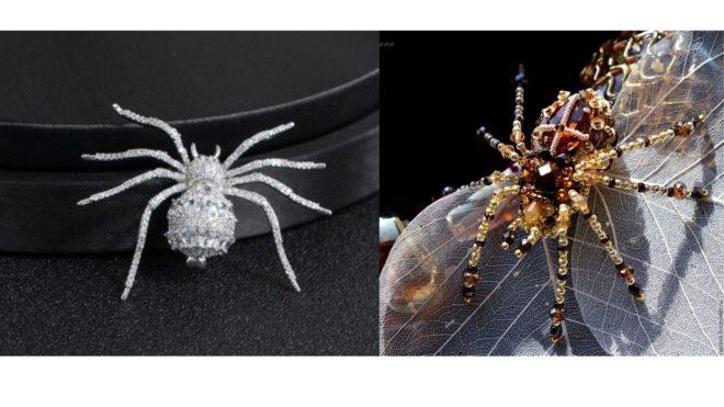 броши пауки
